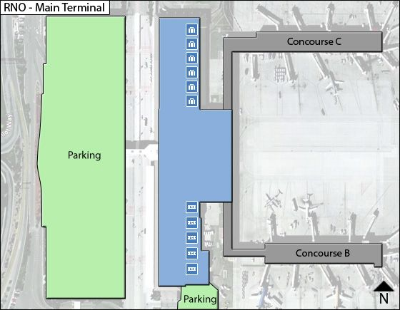 Reno Airport Main Terminal Map