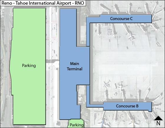 Reno Airport Overview Map