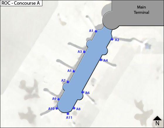 Rochester ROC Terminal Map