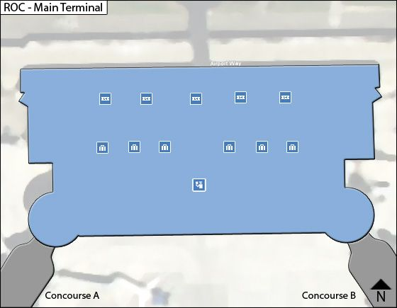 Rochester Airport Main Terminal Map
