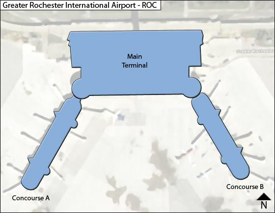 Rochester Airport Overview Map