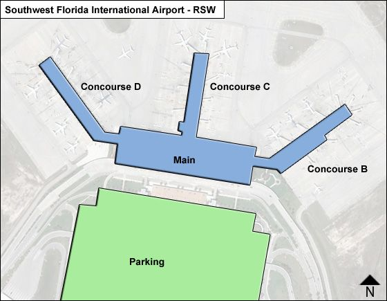 Rsw Airport Map Southwest Florida RSW Airport Terminal Map Rsw Airport Map