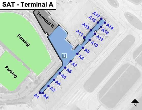 San Antonio SAT Terminal Map