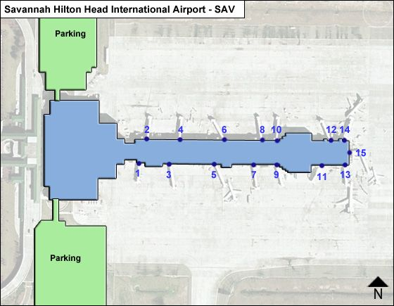 Savannah Hilton Head SAV Terminal Map