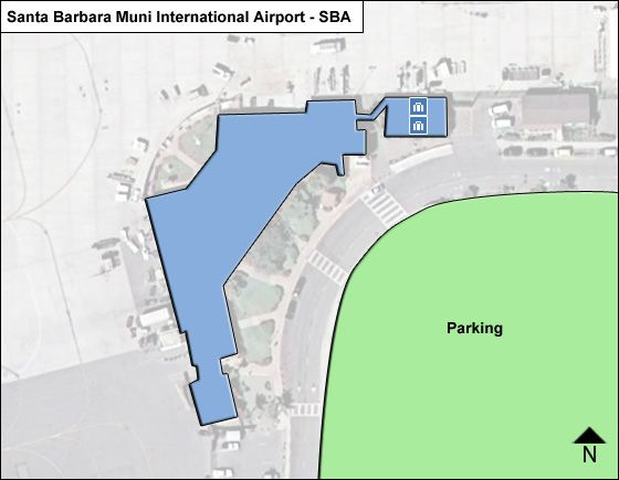 Santa Barbara Muni SBA Terminal Map