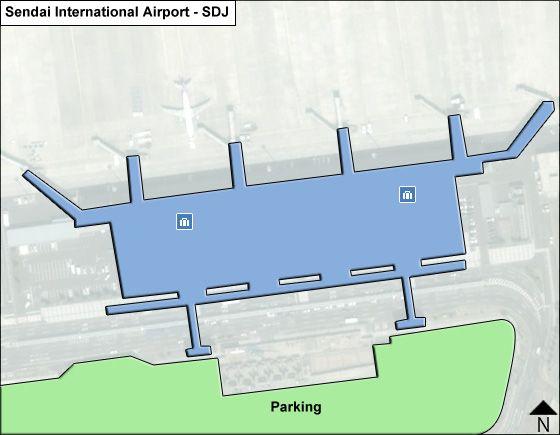 Sendai City, Miyagi Airport Overview Map