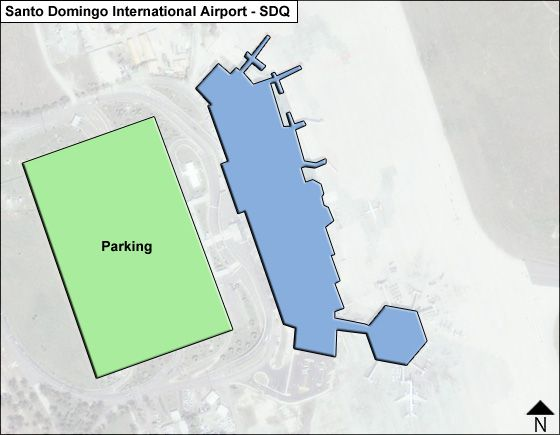Santo Domingo SDQ Terminal Map