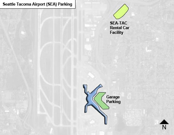Seattle Tacoma SEA airport parking map