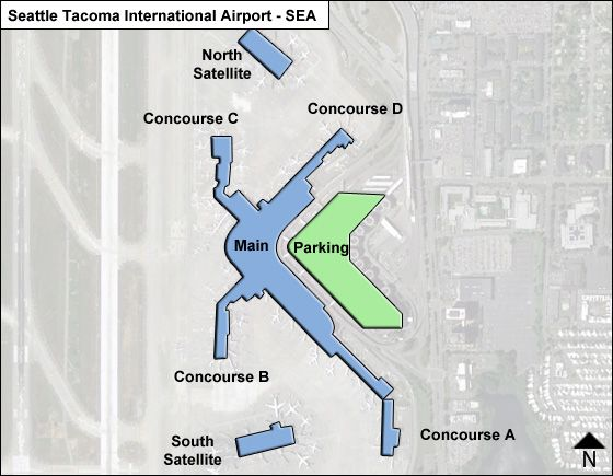Seattle Tacoma SEA Airport Terminal Map - Us tacoma map