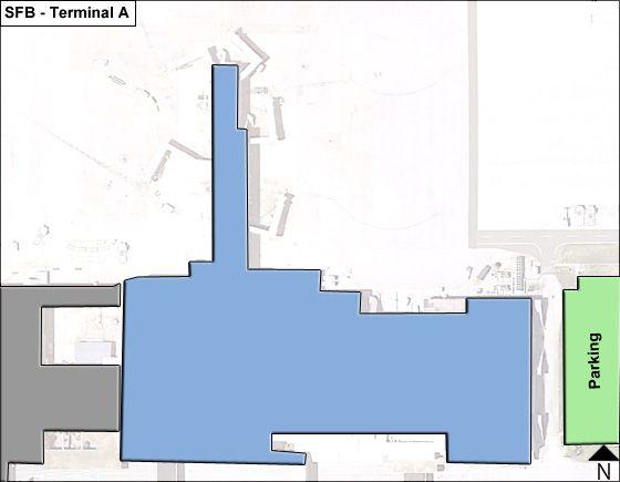 Orlando Sanford SFB Terminal Map