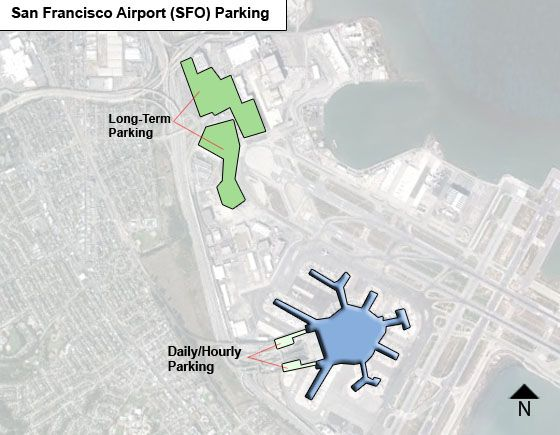 San Francisco SFO airport parking map