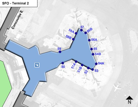 San Francisco Airport Terminal 2 Map