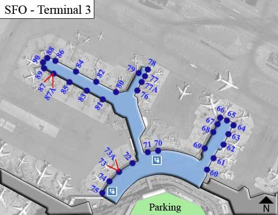 San Francisco Airport Terminal 3 Map
