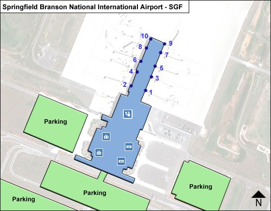 Springfield Branson National SGF Terminal Map