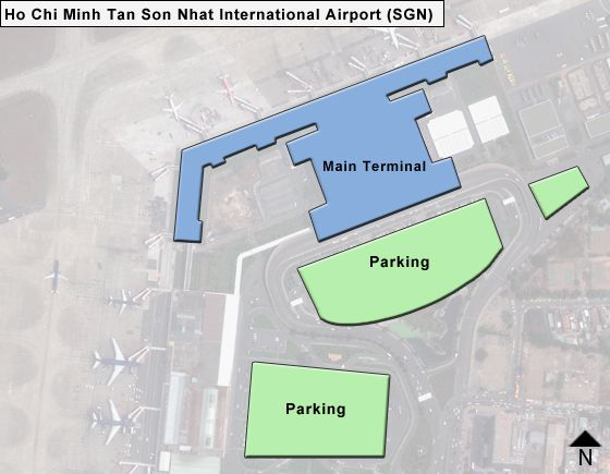 Ho Chi Minh Tan Son Nhat SGN Terminal Map
