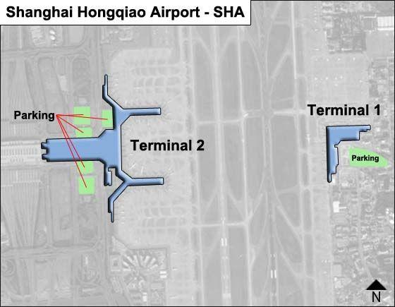 Shanghai Hongqiao SHA Terminal Map
