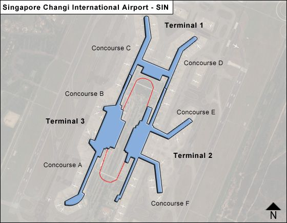 Singapore Airport Overview Map
