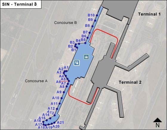 Singapore Changi SIN Terminal Map