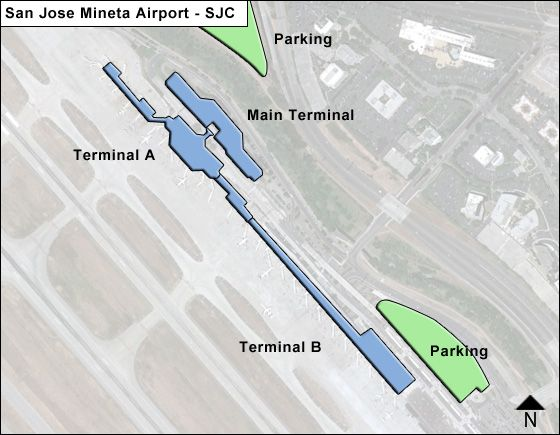 San Jose Airport Overview Map