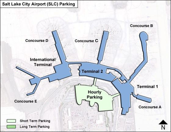 Salt Lake City SLC airport parking map