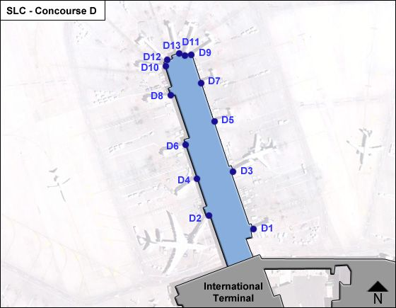 Salt Lake City Airport Concourse D Map