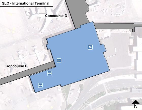 Salt Lake City SLC Terminal Map
