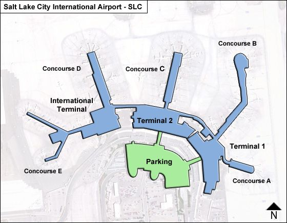 Slc Airport Terminal Map Salt Lake City SLC Airport Terminal Map