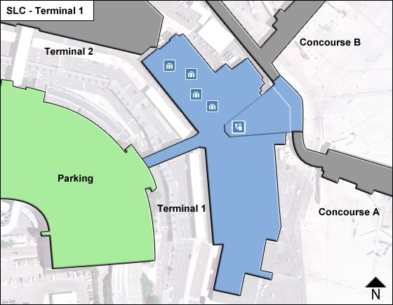 Salt Lake City Airport Terminal 1 Map