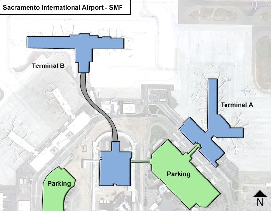 Sacramento Airport Map Sacramento SMF Airport Terminal Map