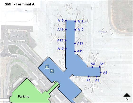 Sacramento Airport Terminal A Map
