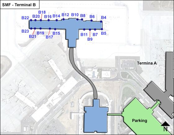 Sacramento SMF Terminal Map