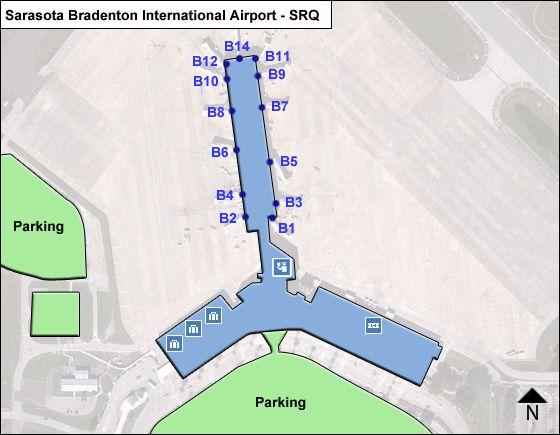 Sarasota Bradenton SRQ Terminal Map