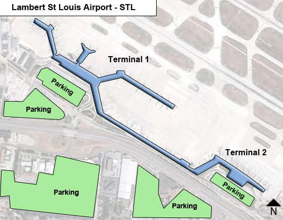 map of lambert international airport Lambert St Louis Stl Airport Terminal Map map of lambert international airport