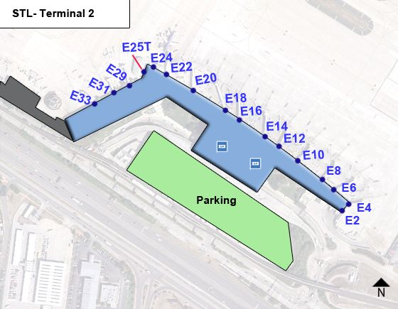 Saint Louis Airport Terminal 2 Map