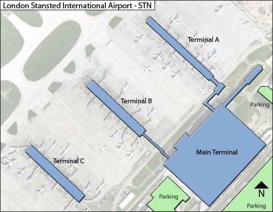 London Stansted STN Terminal Map