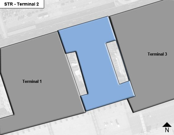 Stuttgart STR Terminal Map