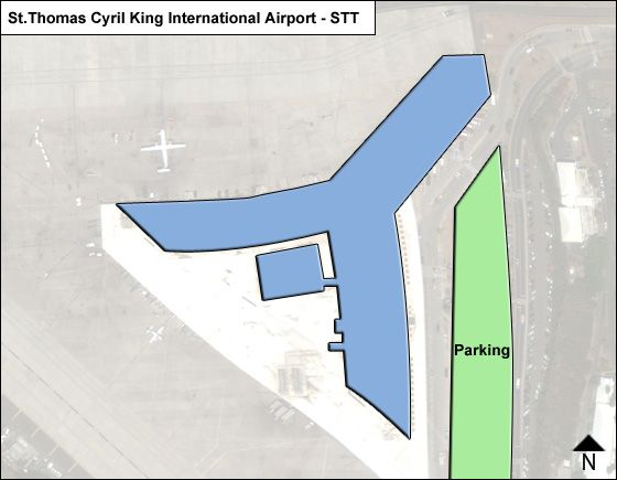 St Thomas Cyril King STT Terminal Map