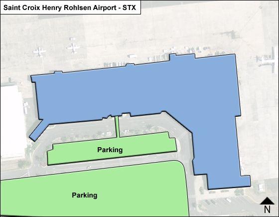 Saint Croix Henry Rohlsen STX Terminal Map