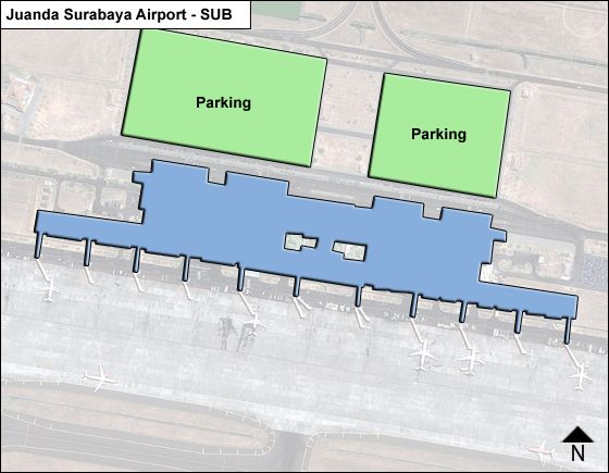 Surabaya, East Java Airport Overview Map