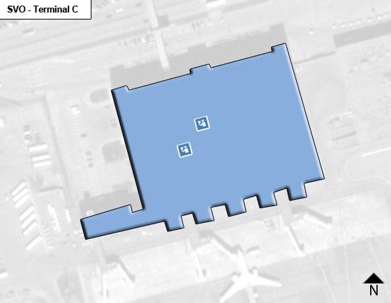 Moscow Sheremetyevo SVO Terminal Map
