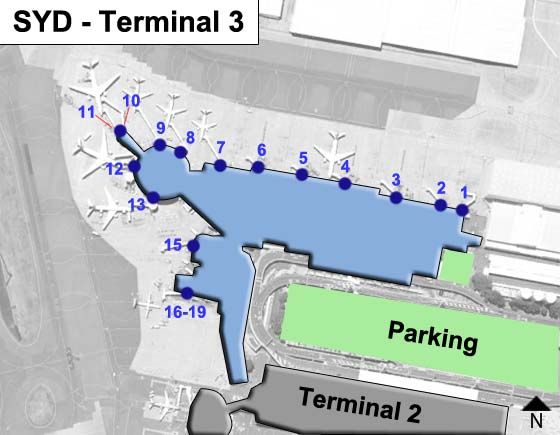 Sydney Kingsford Smith SYD Terminal Map