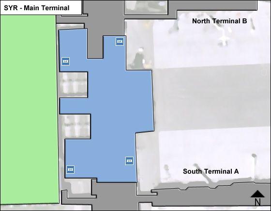 Syracuse Airport Main Terminal Map