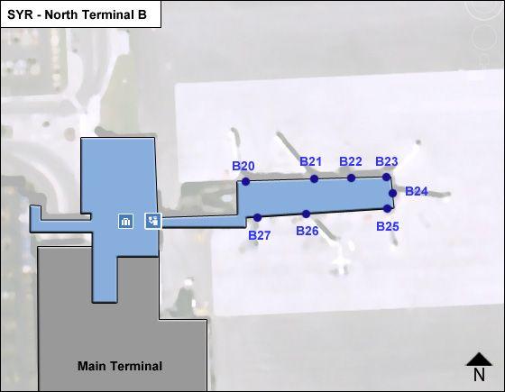 Syracuse Airport Terminal B Map