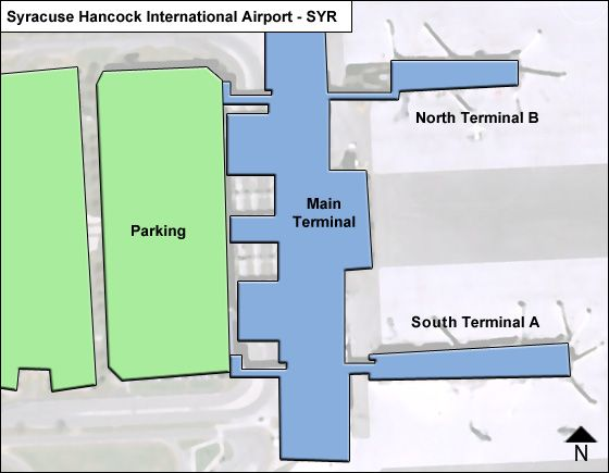 Syracuse Airport Overview Map