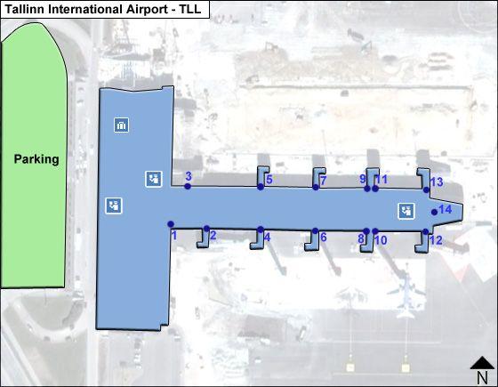 Tallinn TLL Terminal Map