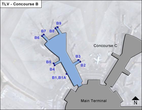 Tel Aviv Ben Gurion TLV Terminal Map