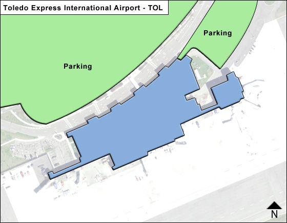 Toledo Express TOL Terminal Map