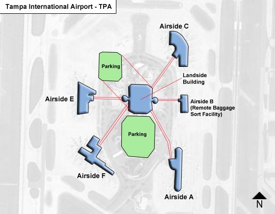 Tampa TPA Terminal Map