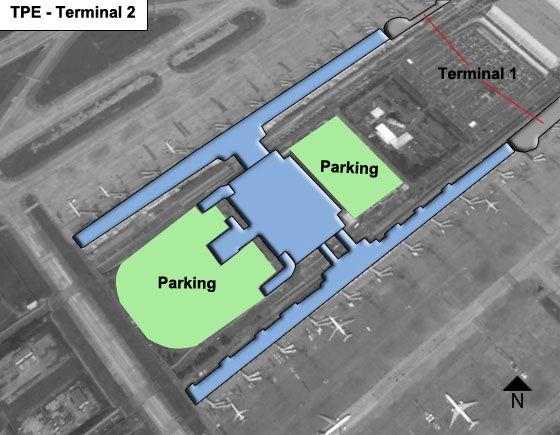 Taiwan Taoyuan TPE Terminal Map