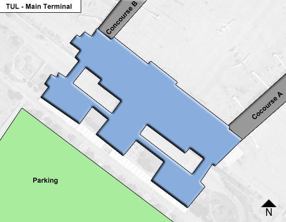 Tulsa Airport Main Terminal Map